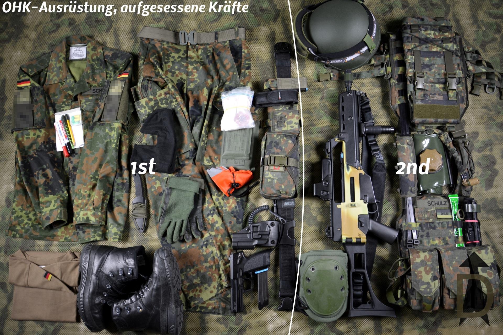 Orts- und Häuserkampf-Ausrüstung, aufgesessene Kräfte